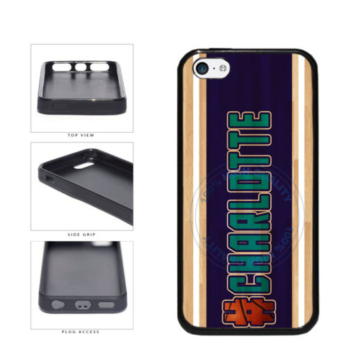 Basketball Team Hashtag Charlotte #Charlotte TPU Rubber SILICONE Phone Case Back Cover For Apple iPhone 5c includes BleuReign(TM) Cloth and Warranty Label