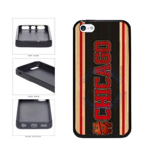 Basketball Team Hashtag Chicago #Chicago TPU Rubber SILICONE Phone Case Back Cover For Apple iPhone 5c includes BleuReign(TM) Cloth and Warranty Label