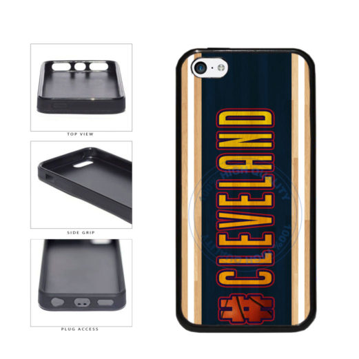 Basketball Team Hashtag Cleveland #Cleveland TPU Rubber SILICONE Phone Case Back Cover For Apple iPhone 5c includes BleuReign(TM) Cloth and Warranty Label