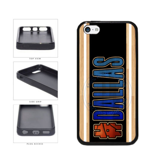 Basketball Team Hashtag Dallas #Dallas TPU Rubber SILICONE Phone Case Back Cover For Apple iPhone 5c includes BleuReign(TM) Cloth and Warranty Label