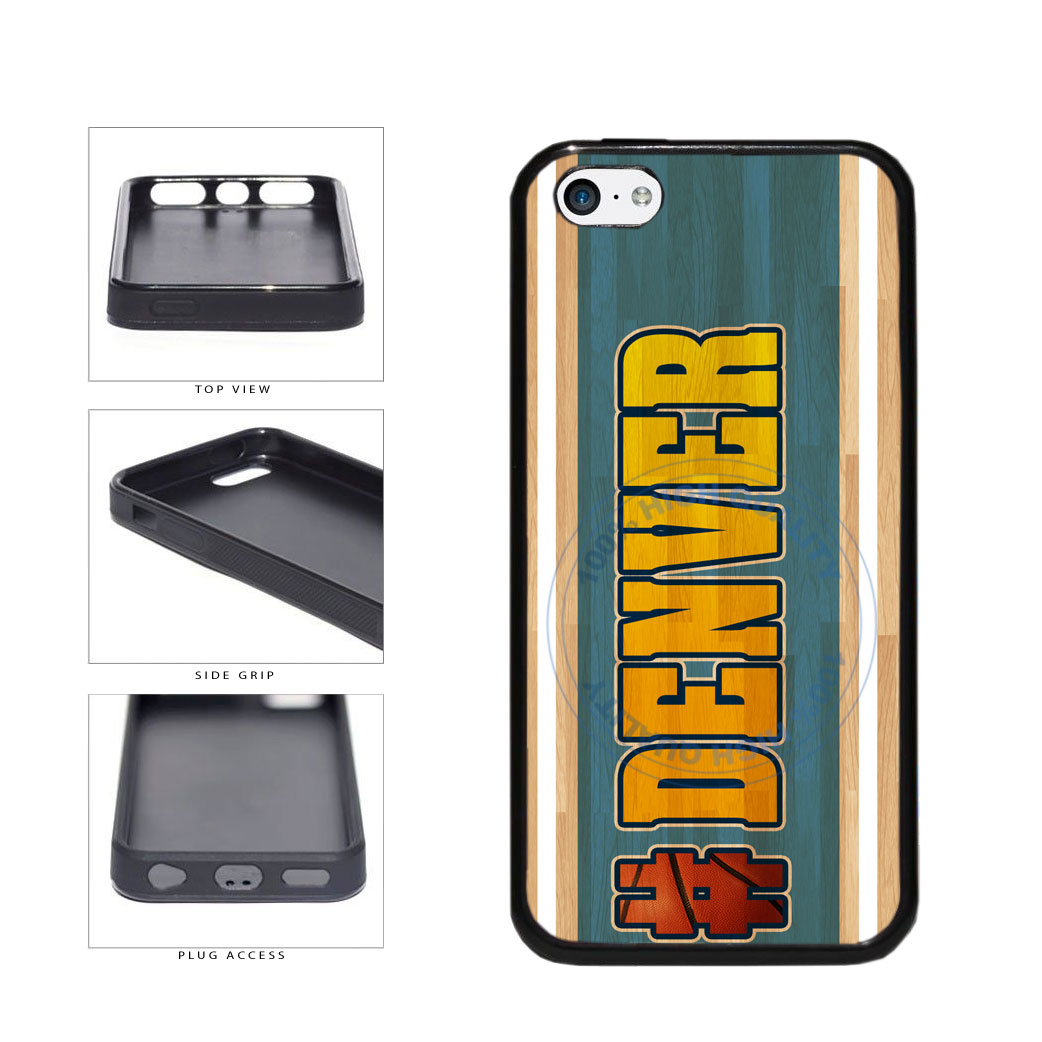 Basketball Team Hashtag Denver #Denver TPU Rubber SILICONE Phone Case Back Cover For Apple iPhone 5c includes BleuReign(TM) Cloth and Warranty Label