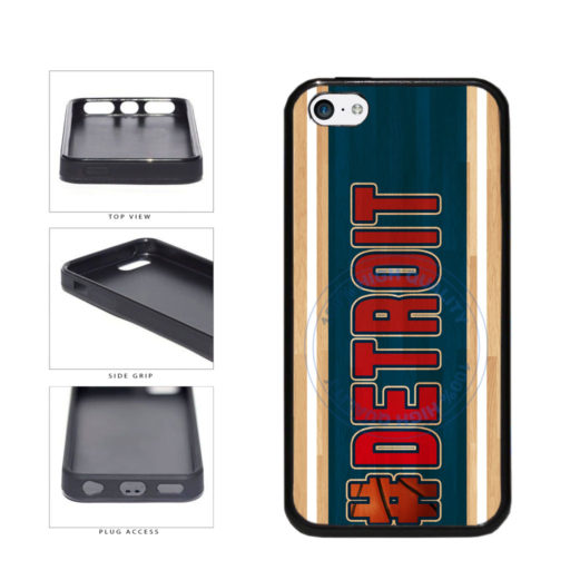 Basketball Team Hashtag Detroit #Detroit TPU Rubber SILICONE Phone Case Back Cover For Apple iPhone 5c includes BleuReign(TM) Cloth and Warranty Label