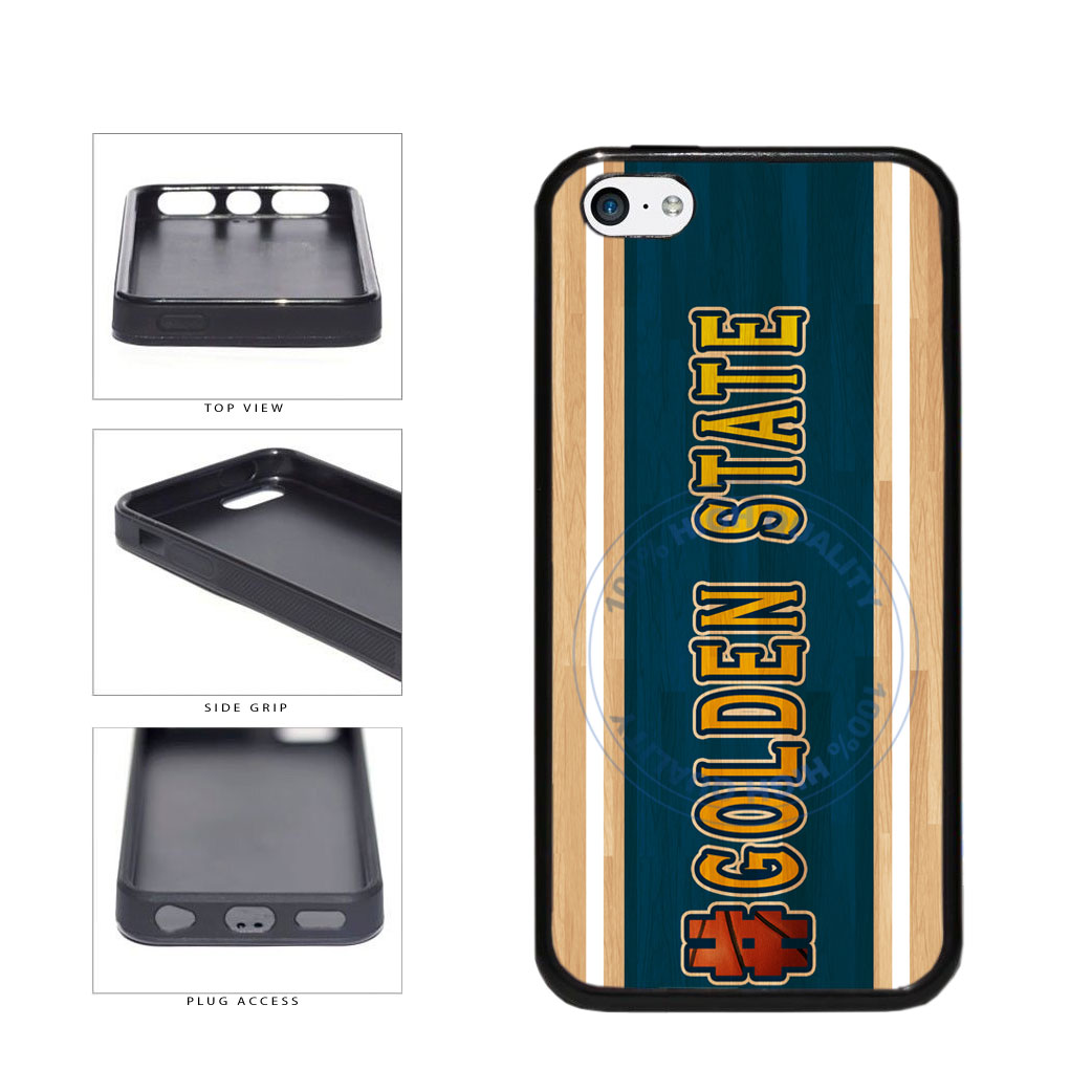 Basketball Team Hashtag Golden State #GoldenState TPU Rubber SILICONE Phone Case Back Cover For Apple iPhone 5c includes BleuReign(TM) Cloth and Warranty Label