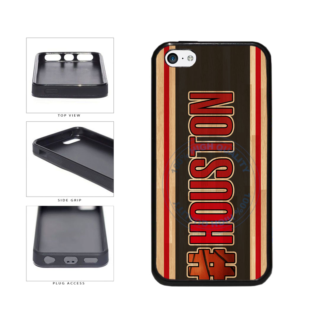 Basketball Team Hashtag Houston #Houston TPU Rubber SILICONE Phone Case Back Cover For Apple iPhone 5c includes BleuReign(TM) Cloth and Warranty Label
