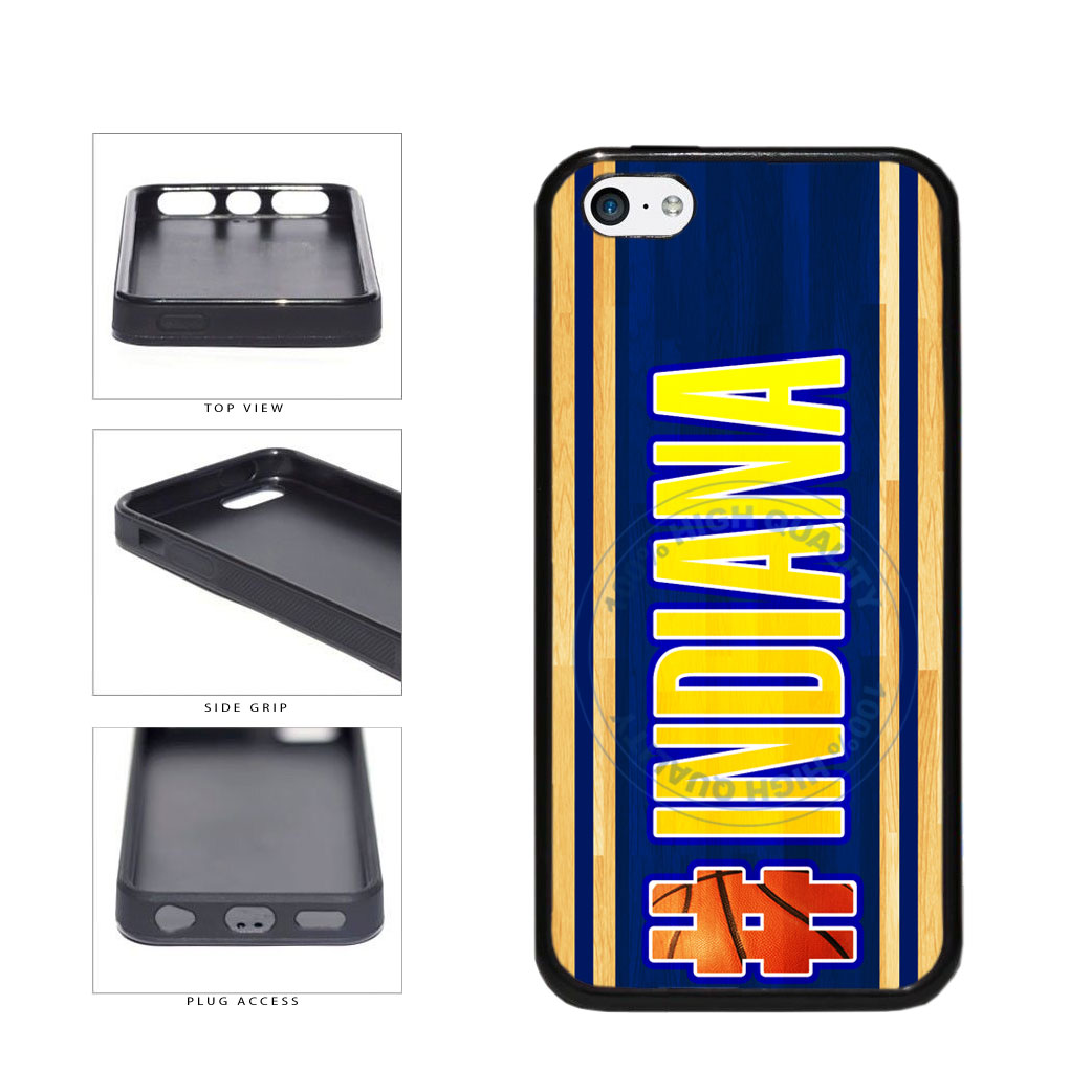 Basketball Team Hashtag Indiana #Indiana TPU Rubber SILICONE Phone Case Back Cover For Apple iPhone 5c includes BleuReign(TM) Cloth and Warranty Label