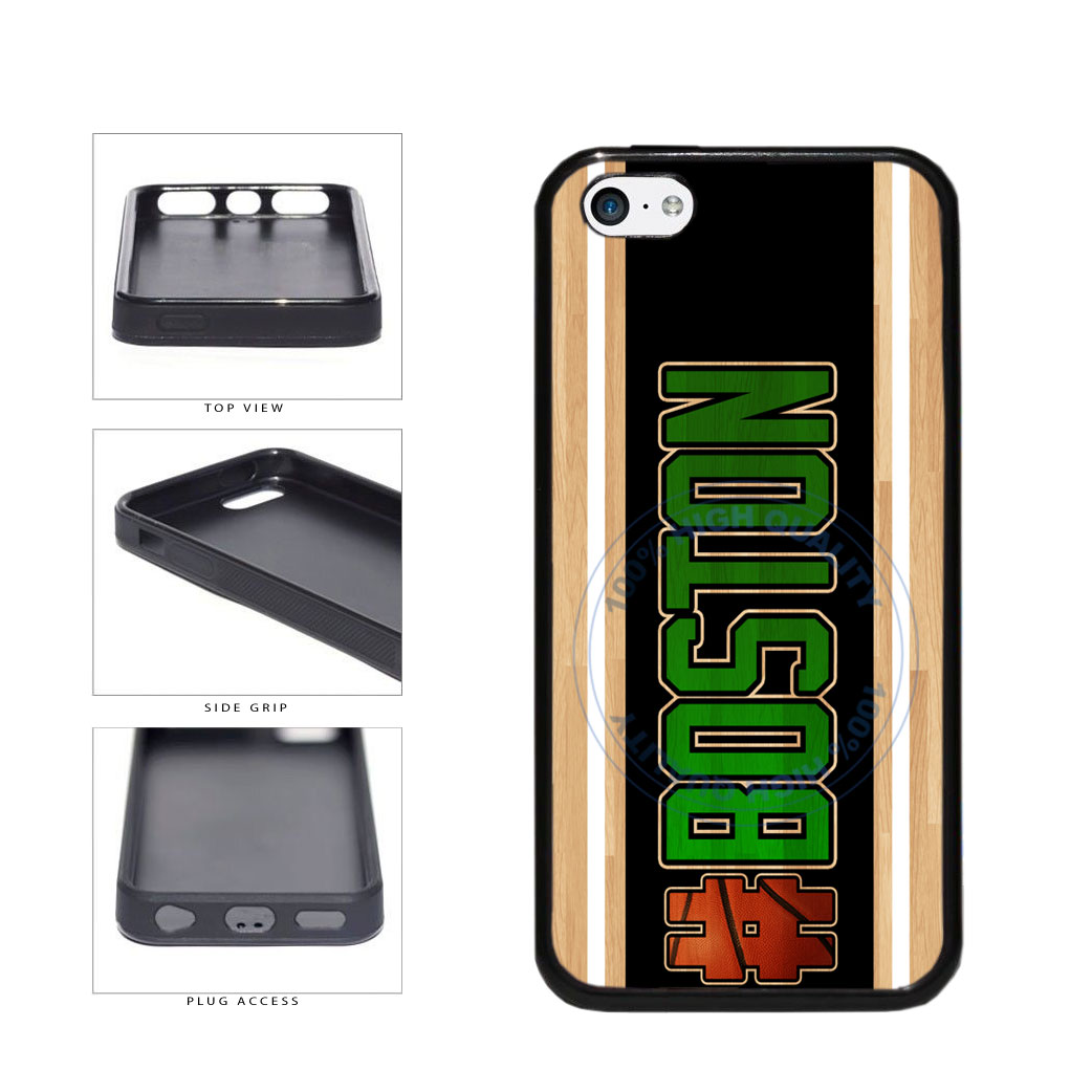Basketball Team Hashtag Boston #Boston TPU Rubber SILICONE Phone Case Back Cover For Apple iPhone 5c includes BleuReign(TM) Cloth and Warranty Label