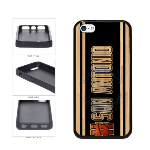 Basketball Team Hashtag San Antonio #SanAntonio TPU Rubber SILICONE Phone Case Back Cover For Apple iPhone 5c includes BleuReign(TM) Cloth and Warranty Label