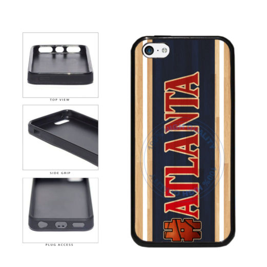 Basketball Team Hashtag Atlanta #Atlanta TPU Rubber SILICONE Phone Case Back Cover For Apple iPhone 5c includes BleuReign(TM) Cloth and Warranty Label