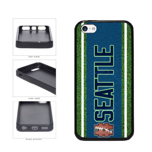 Hashtag Seattle #Seattle Football Team TPU Rubber SILICONE Phone Case Back Cover For Apple iPhone 5c includes BleuReign(TM) Cloth and Warranty Label