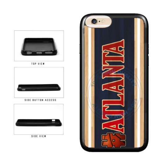 Basketball Team Hashtag Atlanta #Atlanta TPU Rubber SILICONE Phone Case Back Cover For Apple iPhone 6 Plus 6s Plus (5.5 Inches Screen) includes BleuReign(TM) Cloth and Warranty Label