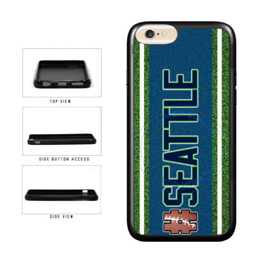 Hashtag Seattle #Seattle Football Team TPU Rubber SILICONE Phone Case Back Cover For Apple iPhone 6 Plus 6s Plus (5.5 Inches Screen) includes BleuReign(TM) Cloth and Warranty Label