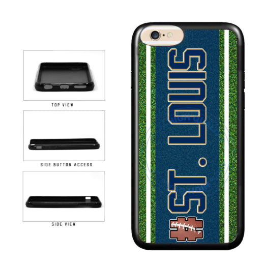 Hashtag St. Louis #StLouis Football Team TPU Rubber SILICONE Phone Case Back Cover For Apple iPhone 6 6s (4.7 Inches Screen) includes BleuReign(TM) Cloth and Warranty Label
