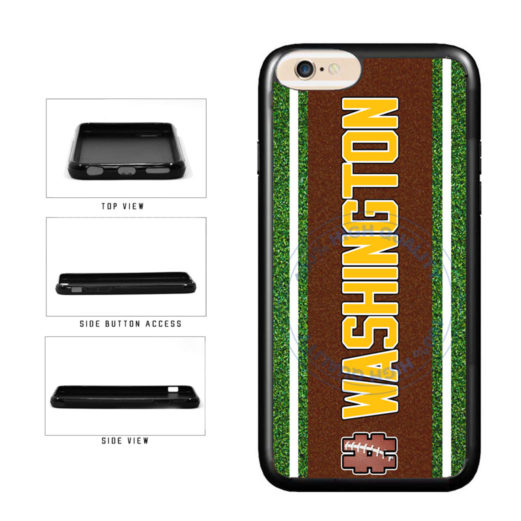 Hashtag Washington #Washington Football Team TPU Rubber SILICONE Phone Case Back Cover For Apple iPhone 6 Plus 6s Plus (5.5 Inches Screen) includes BleuReign(TM) Cloth and Warranty Label