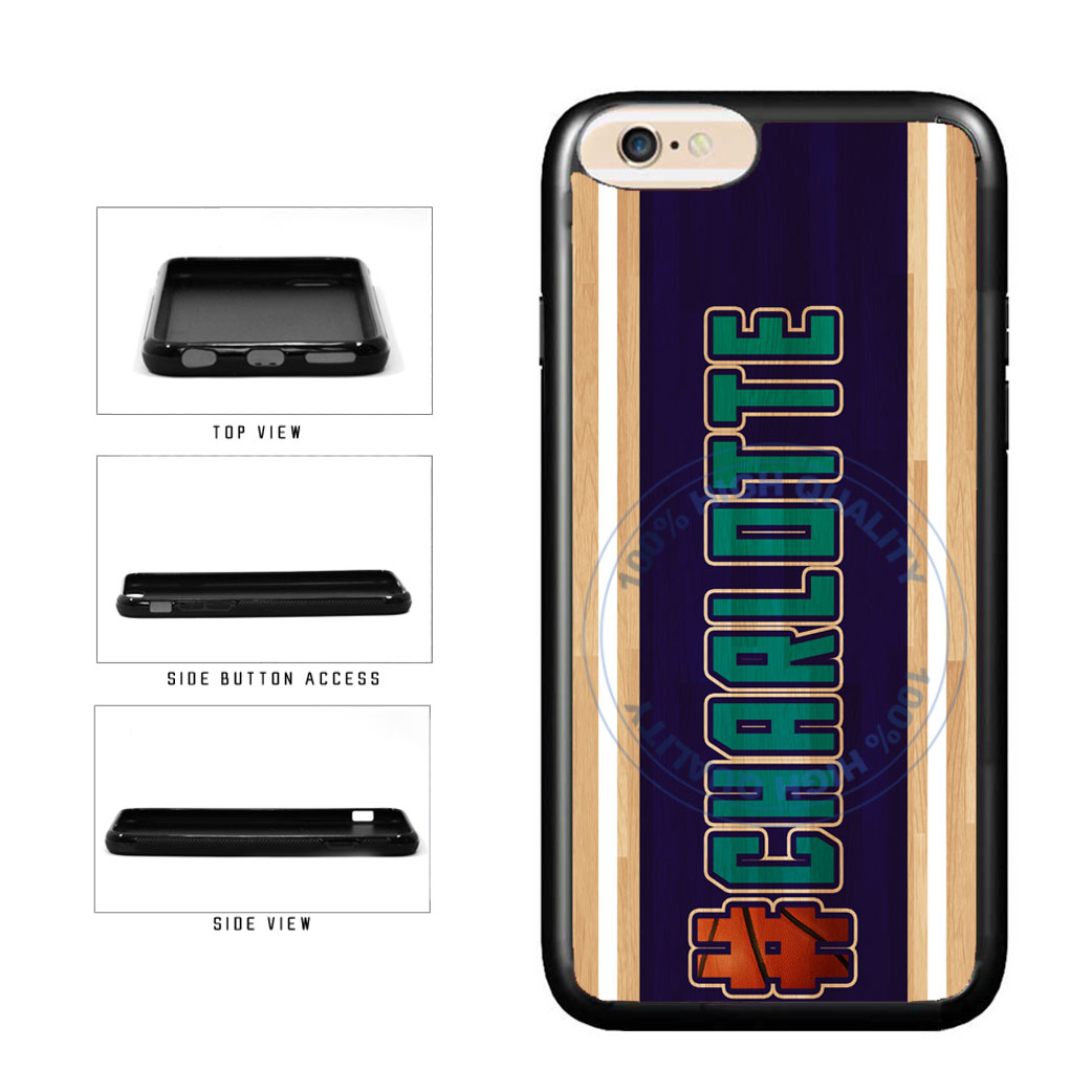 Basketball Team Hashtag Charlotte #Charlotte TPU Rubber SILICONE Phone Case Back Cover For Apple iPhone 6 6s (4.7 Inches Screen) includes BleuReign(TM) Cloth and Warranty Label