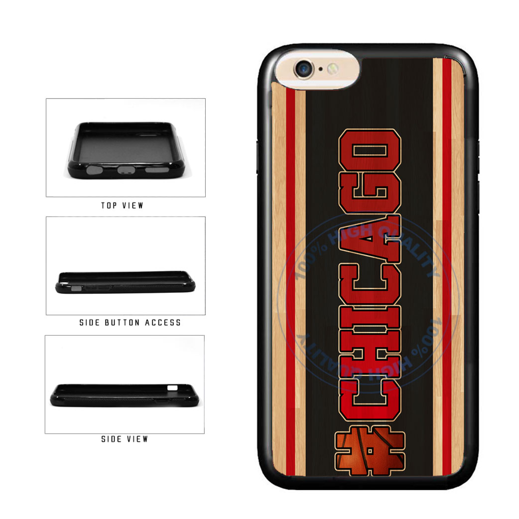 Basketball Team Hashtag Chicago #Chicago TPU Rubber SILICONE Phone Case Back Cover For Apple iPhone 6 6s (4.7 Inches Screen) includes BleuReign(TM) Cloth and Warranty Label