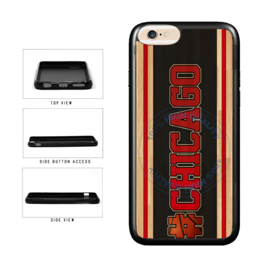 Basketball Team Hashtag Chicago #Chicago TPU Rubber SILICONE Phone Case Back Cover For Apple iPhone 6 Plus 6s Plus (5.5 Inches Screen) includes BleuReign(TM) Cloth and Warranty Label