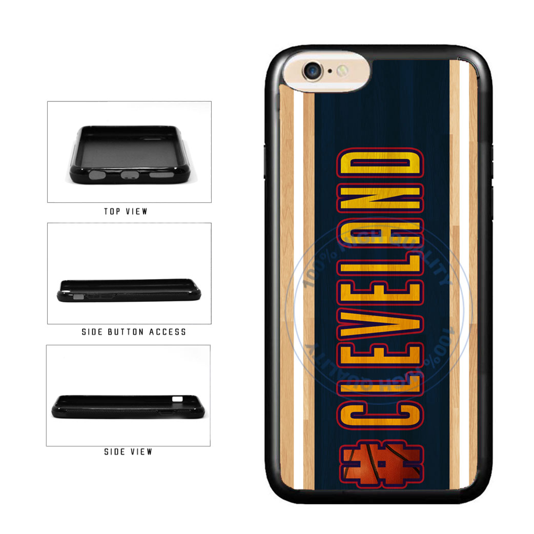 Basketball Team Hashtag Cleveland #Cleveland TPU Rubber SILICONE Phone Case Back Cover For Apple iPhone 6 6s (4.7 Inches Screen) includes BleuReign(TM) Cloth and Warranty Label