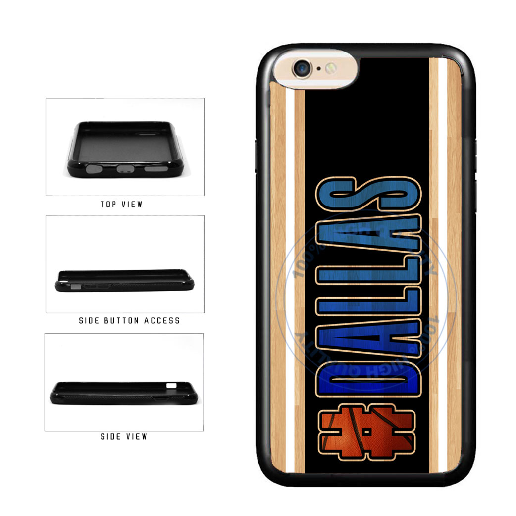 Basketball Team Hashtag Dallas #Dallas TPU Rubber SILICONE Phone Case Back Cover For Apple iPhone 6 6s (4.7 Inches Screen) includes BleuReign(TM) Cloth and Warranty Label