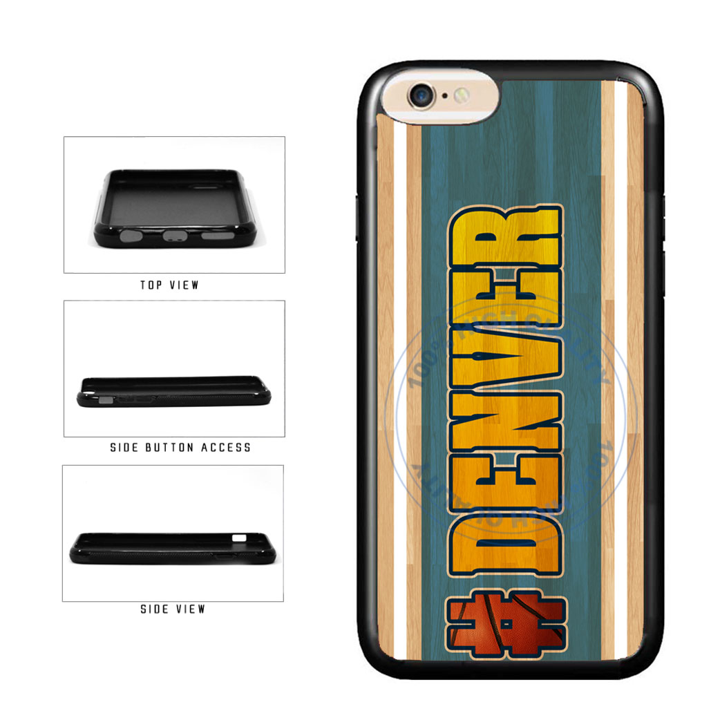 Basketball Team Hashtag Denver #Denver TPU Rubber SILICONE Phone Case Back Cover For Apple iPhone 6 6s (4.7 Inches Screen) includes BleuReign(TM) Cloth and Warranty Label