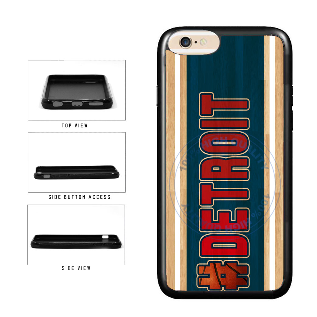 Basketball Team Hashtag Detroit #Detroit TPU Rubber SILICONE Phone Case Back Cover For Apple iPhone 6 6s (4.7 Inches Screen) includes BleuReign(TM) Cloth and Warranty Label