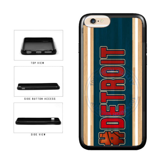 Basketball Team Hashtag Detroit #Detroit TPU Rubber SILICONE Phone Case Back Cover For Apple iPhone 6 Plus 6s Plus (5.5 Inches Screen) includes BleuReign(TM) Cloth and Warranty Label