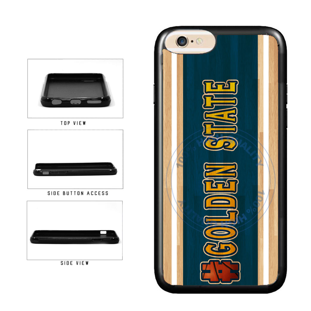 Basketball Team Hashtag Golden State #GoldenState TPU Rubber SILICONE Phone Case Back Cover For Apple iPhone 6 6s (4.7 Inches Screen) includes BleuReign(TM) Cloth and Warranty Label