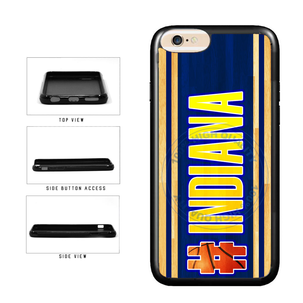 Basketball Team Hashtag Indiana #Indiana TPU Rubber SILICONE Phone Case Back Cover For Apple iPhone 6 6s (4.7 Inches Screen) includes BleuReign(TM) Cloth and Warranty Label