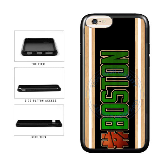 Basketball Team Hashtag Boston #Boston TPU Rubber SILICONE Phone Case Back Cover For Apple iPhone 6 Plus 6s Plus (5.5 Inches Screen) includes BleuReign(TM) Cloth and Warranty Label