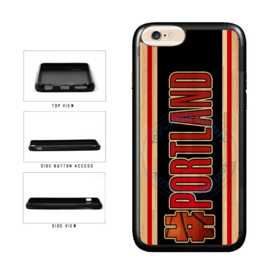 Basketball Team Hashtag Portland #Portland TPU Rubber SILICONE Phone Case Back Cover For Apple iPhone 6 6s (4.7 Inches Screen) includes BleuReign(TM) Cloth and Warranty Label