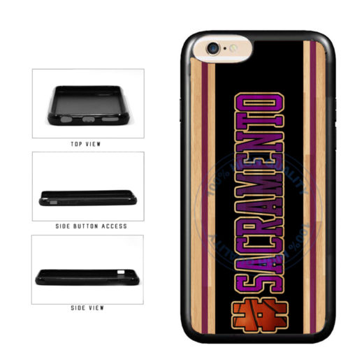 Basketball Team Hashtag Sacramento #Sacramento TPU Rubber SILICONE Phone Case Back Cover For Apple iPhone 6 Plus 6s Plus (5.5 Inches Screen) includes BleuReign(TM) Cloth and Warranty Label