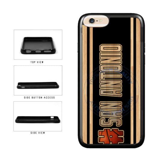Basketball Team Hashtag San Antonio #SanAntonio TPU Rubber SILICONE Phone Case Back Cover For Apple iPhone 6 6s (4.7 Inches Screen) includes BleuReign(TM) Cloth and Warranty Label