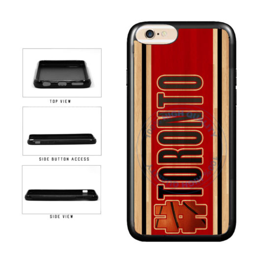 Basketball Team Hashtag Toronto #Toronto TPU Rubber SILICONE Phone Case Back Cover For Apple iPhone 6 Plus 6s Plus (5.5 Inches Screen) includes BleuReign(TM) Cloth and Warranty Label