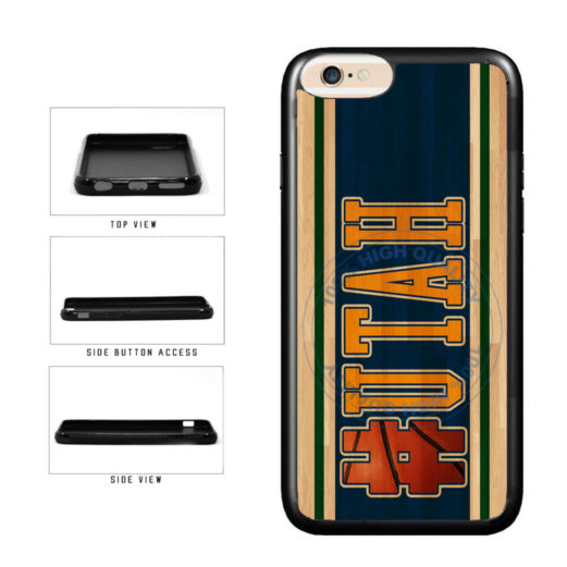 Basketball Team Hashtag Utah #Utah TPU Rubber SILICONE Phone Case Back Cover For Apple iPhone 6 Plus 6s Plus (5.5 Inches Screen) includes BleuReign(TM) Cloth and Warranty Label