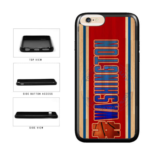 Basketball Team Hashtag Washington #Washington TPU Rubber SILICONE Phone Case Back Cover For Apple iPhone 6 6s (4.7 Inches Screen) includes BleuReign(TM) Cloth and Warranty Label
