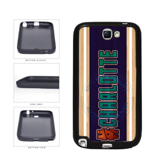 Basketball Team Hashtag Charlotte #Charlotte TPU Rubber SILICONE Phone Case Back Cover For Samsung Galaxy Note II 2 N7100 includes BleuReign(TM) Cloth and Warranty Label