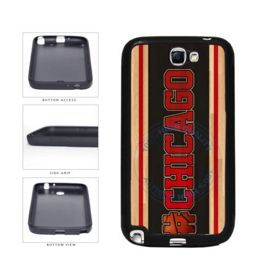 Basketball Team Hashtag Chicago #Chicago TPU Rubber SILICONE Phone Case Back Cover For Samsung Galaxy Note II 2 N7100 includes BleuReign(TM) Cloth and Warranty Label