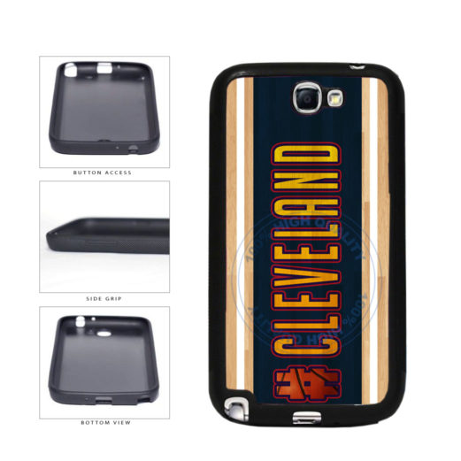 Basketball Team Hashtag Cleveland #Cleveland TPU Rubber SILICONE Phone Case Back Cover For Samsung Galaxy Note II 2 N7100 includes BleuReign(TM) Cloth and Warranty Label