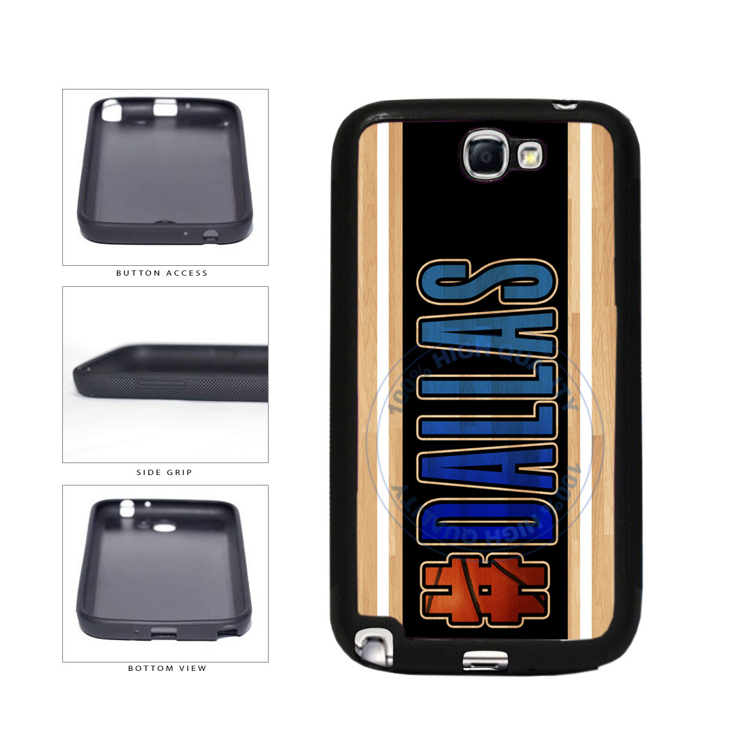 Basketball Team Hashtag Dallas #Dallas TPU Rubber SILICONE Phone Case Back Cover For Samsung Galaxy Note II 2 N7100 includes BleuReign(TM) Cloth and Warranty Label