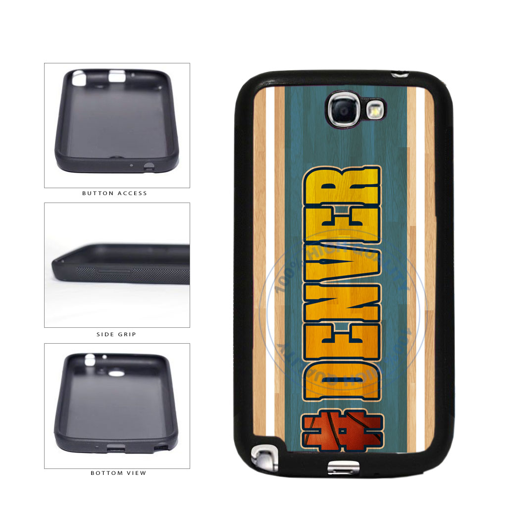 Basketball Team Hashtag Denver #Denver TPU Rubber SILICONE Phone Case Back Cover For Samsung Galaxy Note II 2 N7100 includes BleuReign(TM) Cloth and Warranty Label