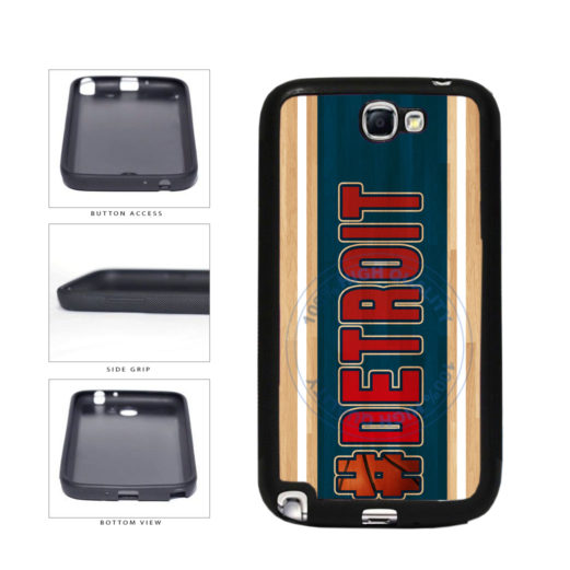 Basketball Team Hashtag Detroit #Detroit TPU Rubber SILICONE Phone Case Back Cover For Samsung Galaxy Note II 2 N7100 includes BleuReign(TM) Cloth and Warranty Label