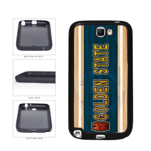 Basketball Team Hashtag Golden State #GoldenState TPU Rubber SILICONE Phone Case Back Cover For Samsung Galaxy Note II 2 N7100 includes BleuReign(TM) Cloth and Warranty Label