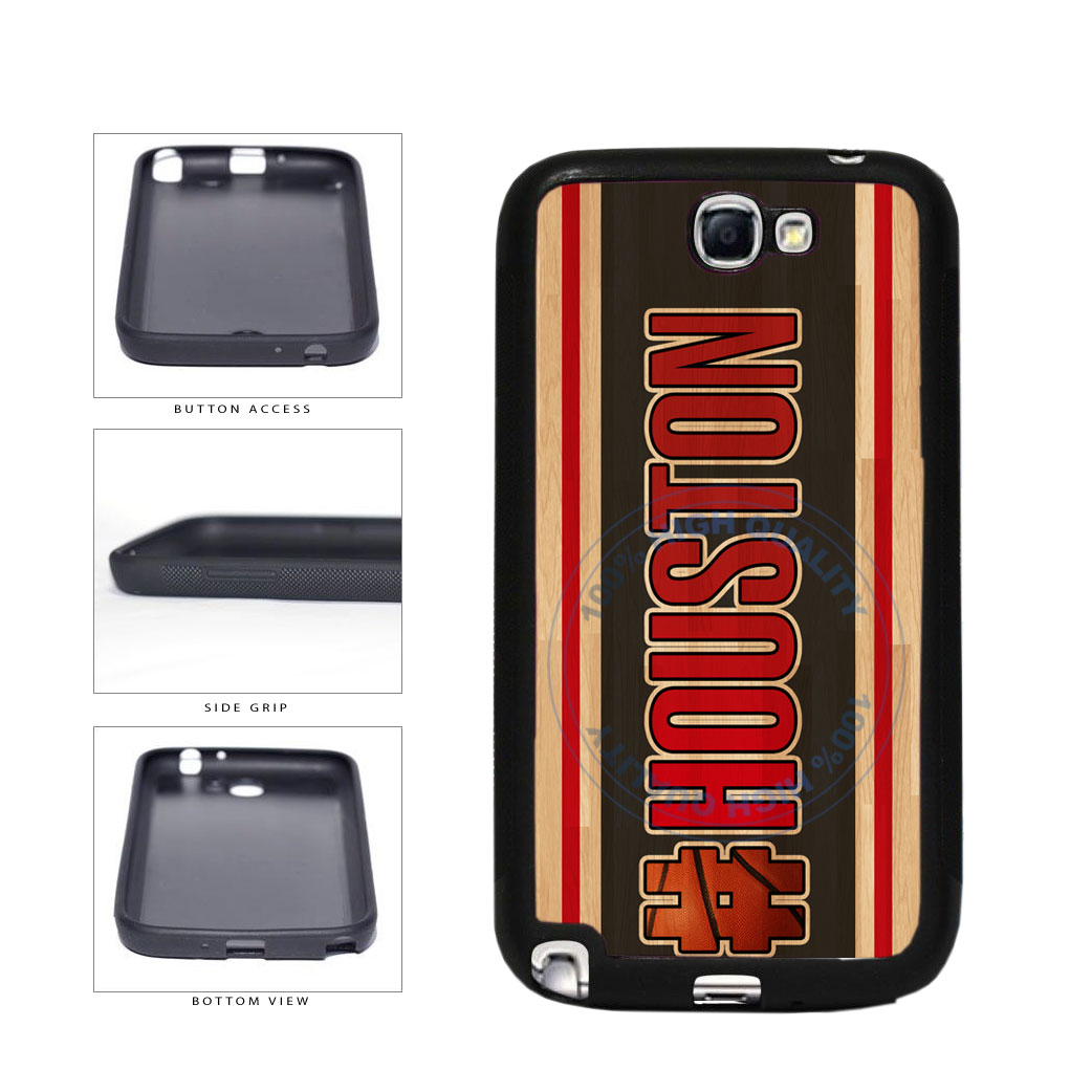 Basketball Team Hashtag Houston #Houston TPU Rubber SILICONE Phone Case Back Cover For Samsung Galaxy Note II 2 N7100 includes BleuReign(TM) Cloth and Warranty Label