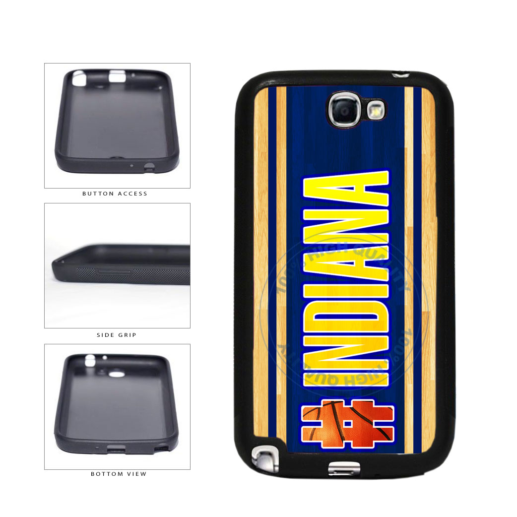 Basketball Team Hashtag Indiana #Indiana TPU Rubber SILICONE Phone Case Back Cover For Samsung Galaxy Note II 2 N7100 includes BleuReign(TM) Cloth and Warranty Label