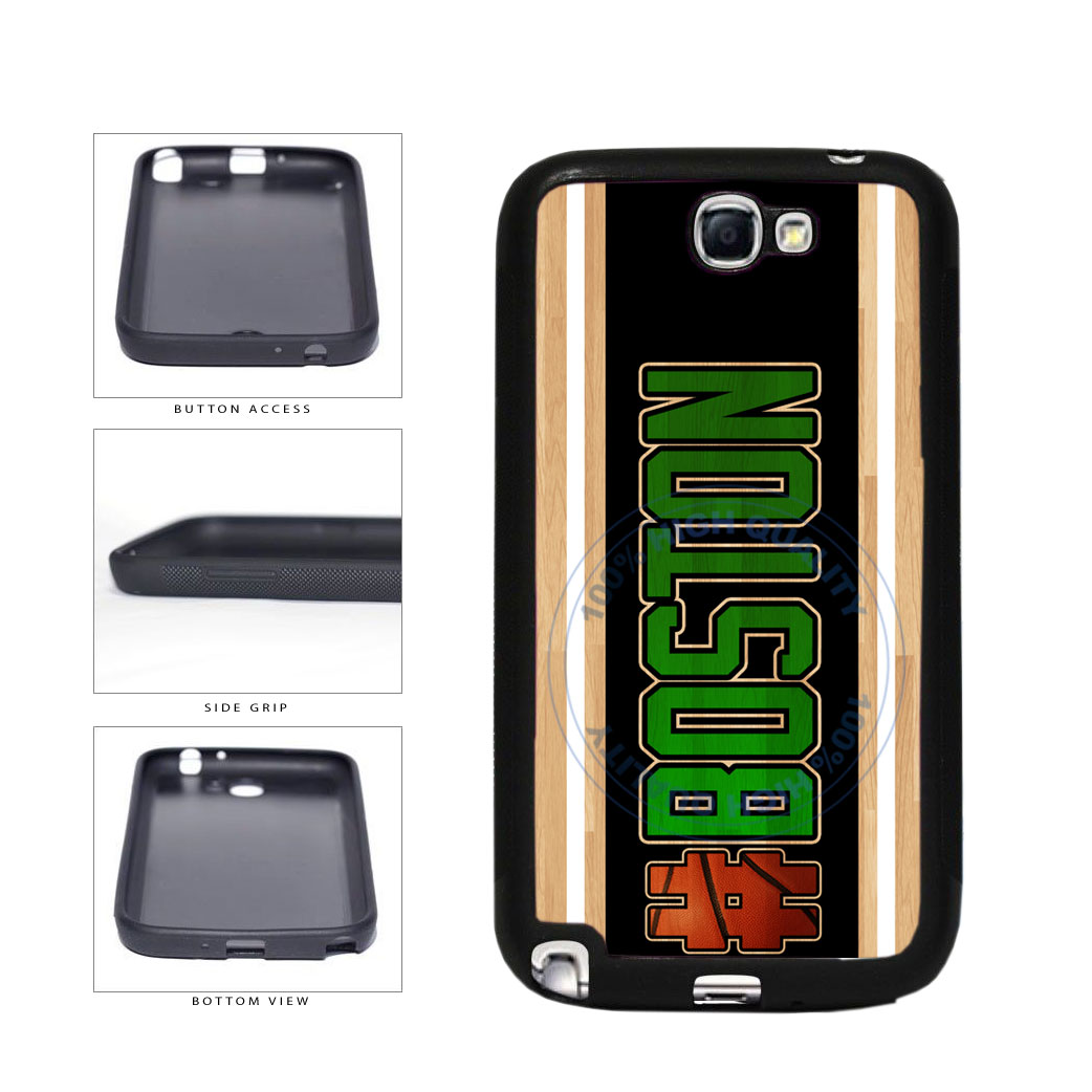 Basketball Team Hashtag Boston #Boston TPU Rubber SILICONE Phone Case Back Cover For Samsung Galaxy Note II 2 N7100 includes BleuReign(TM) Cloth and Warranty Label