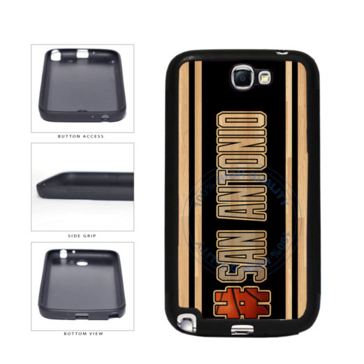 Basketball Team Hashtag San Antonio #SanAntonio TPU Rubber SILICONE Phone Case Back Cover For Samsung Galaxy Note II 2 N7100 includes BleuReign(TM) Cloth and Warranty Label