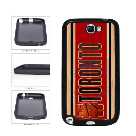 Basketball Team Hashtag Toronto #Toronto TPU Rubber SILICONE Phone Case Back Cover For Samsung Galaxy Note II 2 N7100 includes BleuReign(TM) Cloth and Warranty Label