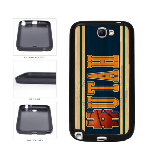 Basketball Team Hashtag Utah #Utah TPU Rubber SILICONE Phone Case Back Cover For Samsung Galaxy Note II 2 N7100 includes BleuReign(TM) Cloth and Warranty Label