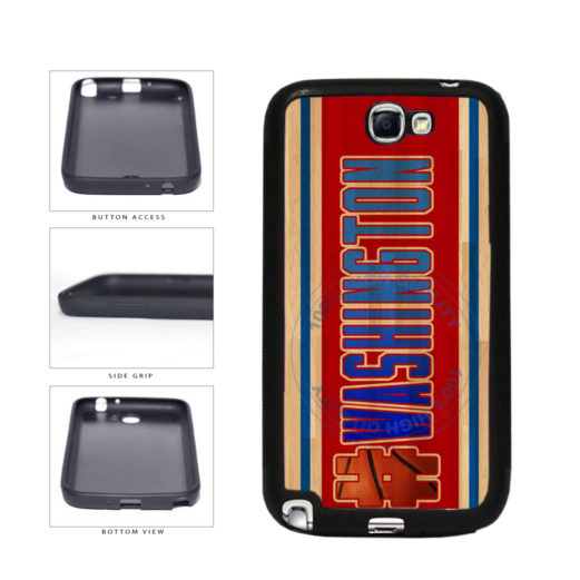 Basketball Team Hashtag Washington #Washington TPU Rubber SILICONE Phone Case Back Cover For Samsung Galaxy Note II 2 N7100 includes BleuReign(TM) Cloth and Warranty Label