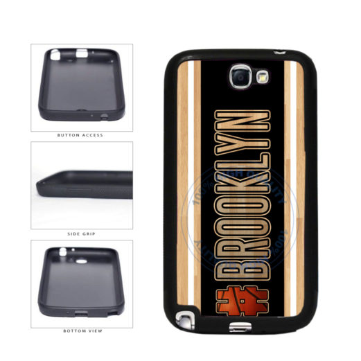 Basketball Team Hashtag Brooklyn #Brooklyn TPU Rubber SILICONE Phone Case Back Cover For Samsung Galaxy Note II 2 N7100 includes BleuReign(TM) Cloth and Warranty Label