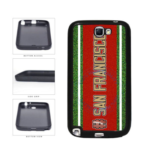 Hashtag San Francisco #SanFrancisco Football Team TPU Rubber SILICONE Phone Case Back Cover For Samsung Galaxy Note II 2 N7100 includes BleuReign(TM) Cloth and Warranty Label